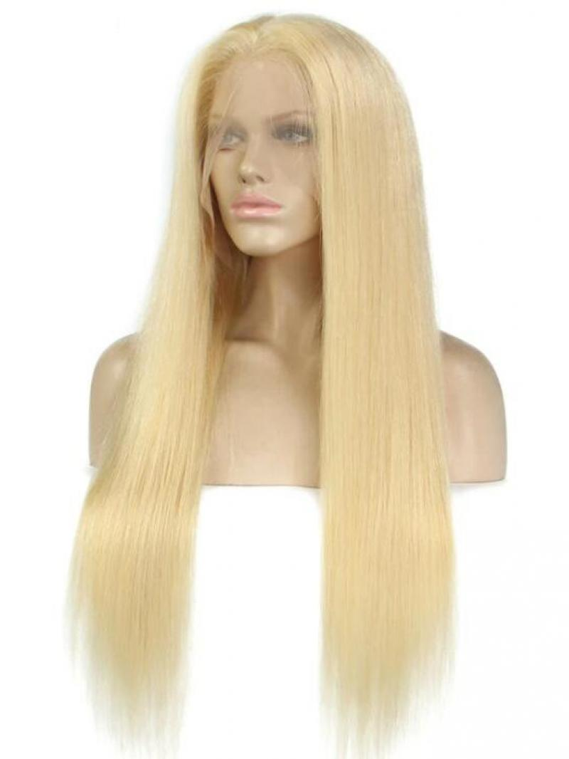 Blonde Long Straight Full Lace Human Hair Wig - Human Hair Wigs - BabalaHair 0831975ef